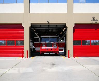 Feuerwehr in Feuerwehrstation